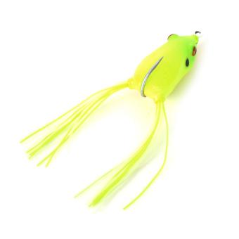 Trulinoya Ray Frog Style Soft Plastic Fishing Lure Bait w/ Hook / Beard - Fluorescent Yellow - picture 2