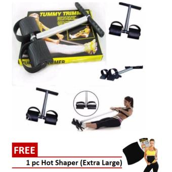 Tummy Trimmer with Free 1 pc Hot Shapers Women's Shapewear for Belly (Black) Size - Extra Large