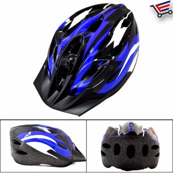 Ultralight Adjustable MTB Cycling Bicycle Helmet (Blue/White/Black)