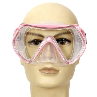 UN3F Swimming Diving Protective Goggles Snorkeling Mask Tempered Glass Stylish (Pink) (Intl)