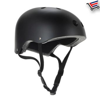 Unisex Bmx Nutshell Bike Cycling Protective Helmet (Black) Buy 1Take 1 - 2