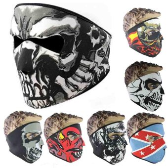 Unisex Skull Face Mask Bike Motorcycle Outdoor Scarf Neck Paintball Ski Helmet - intl