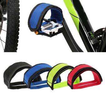 Vanker-Practical Nylon Safe Anti-slip Adhesive Straps Pedal ToeClip For Fixed Gear BMX MTB Mountain Bike Bicycle(Black) - intl - 5