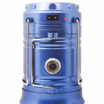 Verygood XF-5800T Rechargeable Solar Camping Lantern Emergency LEDLight Built-in Mobile Charger Ideal for Outdoor (Blue)