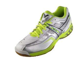 Victor SH-910 SG Badminton Shoes (Silver/Green)