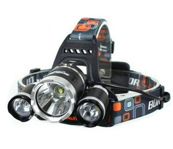 Waterproof Headlamp Cree XM-L T6 4000Lumens 4 Modes RechargeableLed Headlight Headlamp+2*18650 Battery and AC/CAR Charge - 2