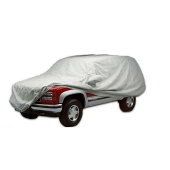 Waterproof Lightweight Nylon Car Cover for SUVs (Gray) - 2