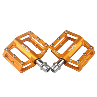 Wellgo KC008 Aluminum Extruted Pedals for Road Bike MTB BMX DH yellow (Intl)