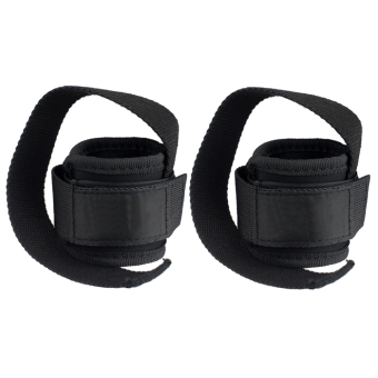 Wrist Support Training Weight Lifting Straps Hand Bar (Black)