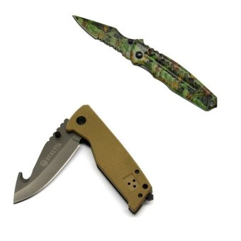 X29-1 Pocket Utility Knife (Green) and MH-C Utility Knife (Beige)
