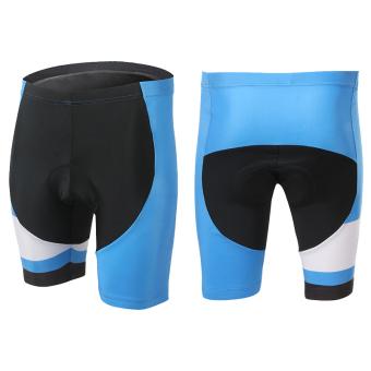 XINTOWN 1508 Men's Cycling Shorts Short Pants Black Stripe (Blue) - picture 2