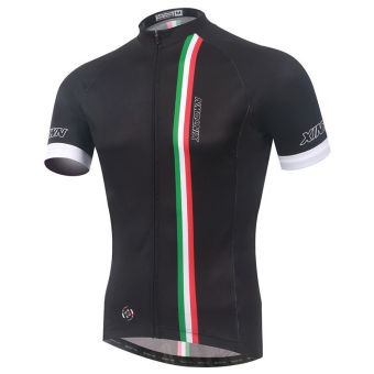 XINTOWN 1543 Men's Bicycle Jersey Color Stripe Black - picture 2