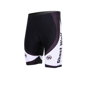 XINTOWN 2039 Mens Cycling Shorts Wolf Printed Short Pants (Black)