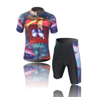 XINTOWN Men's Bicycle Jersey Short Set Gift Box Print