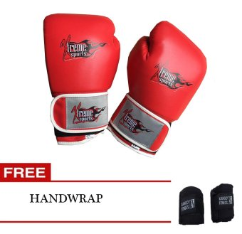 Xtreme Boxing Gloves 10oz (Red) with Free Handwrap