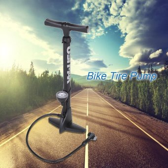 XXF 160psi High Pressure Bicycle Floor Pump Bike Pressure Inflator Air Tire Pump with Gauge Interchangable Valve - intl