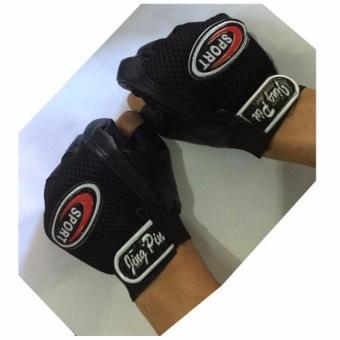XZY- Jing Pin Sport Half Finger Cycling Gloves (Black) - 2