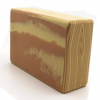Yoga Brick Foam for Exercise and Health Fitness (WoodenBrown) - 3
