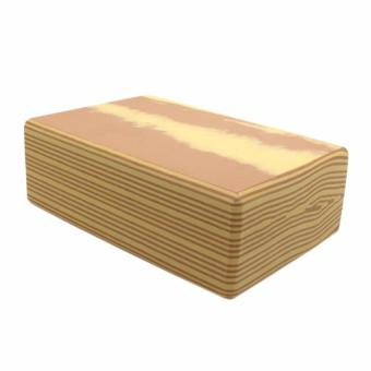 Yoga Brick Foam for Exercise and Health Fitness (WoodenBrown) - 2