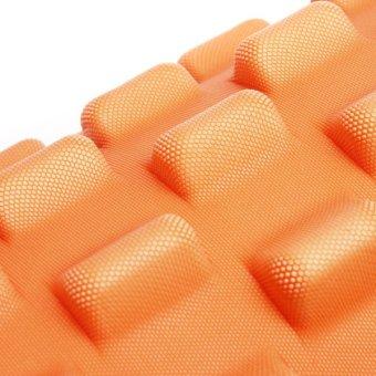 Yoga Physio Gym EVA Grid Foam Roller Pilates Back Massage Orange 32x12cm - picture 3