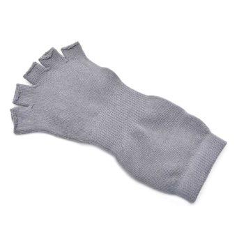 Yogini Toeless Yoga Socks (Grey/Blue)