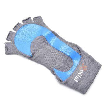 Yogini Toeless Yoga Socks (Grey/Blue) - picture 2
