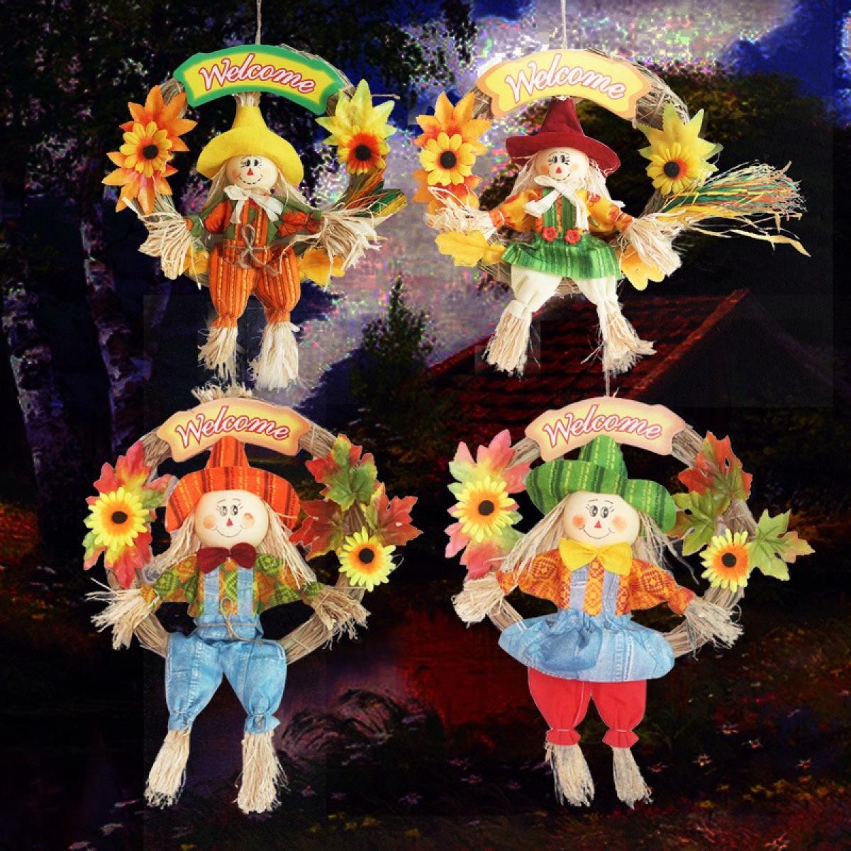 4pcs Creative Halloween Easter Decoration Scarecrow Festival Kindergarten Mall Bar Decoration Scarecrow Wreath Pendant Lazada