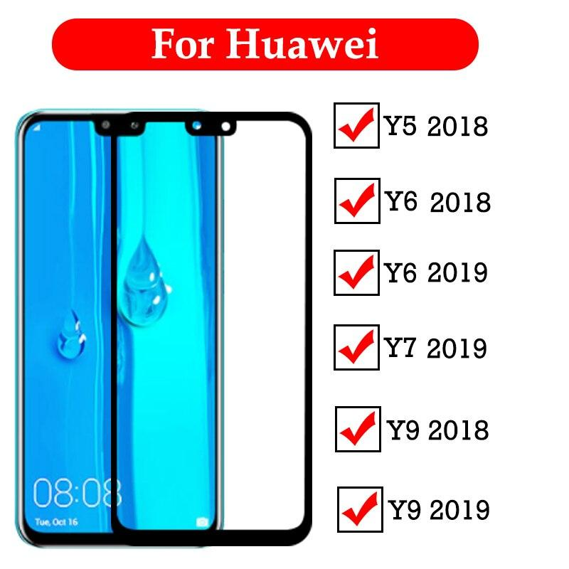 Buy 1 Take 1,2pcs 9H Full Tempered Glass For Huawei Y9 Prime 2019 Y5 Y6 Y9  Y7 2019 2018 Y6 Prime 2018 Screen Protector Full Cover Protective Glass
