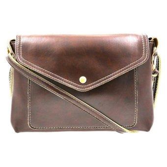 01S Women's High-Toned Sling Bag (Dark Brown)