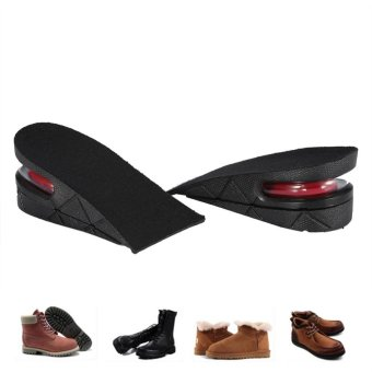 1 Pair Men Women Half Lift Height Increase Insoles 5cm InvisibleShoes Heel Taller Pads - intl - 3