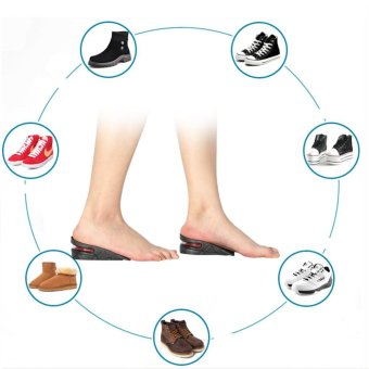 1 Pair Men Women Half Lift Height Increase Insoles 5cm InvisibleShoes Heel Taller Pads - intl - 2