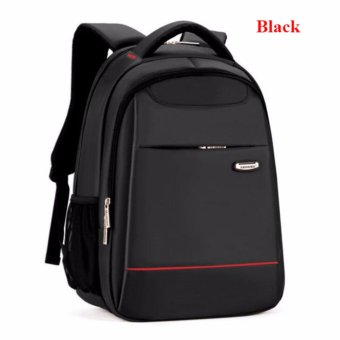 15 Inch Polyester Men's Shoulder Back Pack Men Business Laptop BagCollege Student Camputer Backpack School Bags High Quality FashionLuxury(Black) - intl - 5