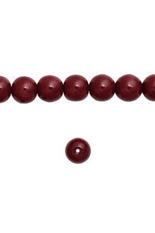 150pcs Round Glass Pearl Spacer Beads 6x6x6mm Bordeaux Red