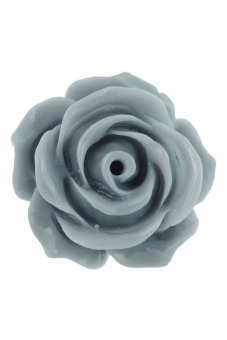 15pcs Resin Cabochons Flatback Rose Flower Cameo 14.5x14.5x8mm Gray - picture 2