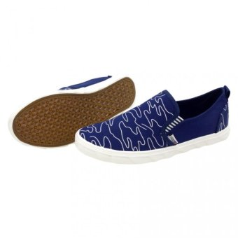 1625 Low Cut High Quality Sneakers Slip On Men's Casual RubberShoes (navy blue) - 2