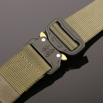 1PC Military Equipment Tactical Belt Men Casual Brand TDU ThickenNylon Adjust Metal Buckle Militar Combat Belt Male - intl - 3