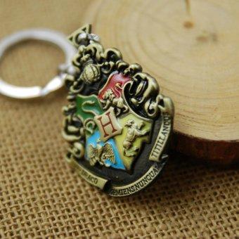 1pcs Harry Potter Movie College Logo Key Chain Keyring KeychainFashion Chaveiro Llavero Key .