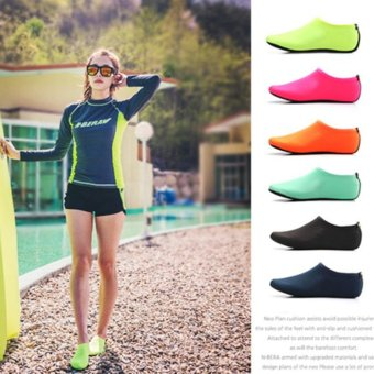 2 Pairs Unisex Diving Swimming Shoes Beach Water Sports Shoes Rose - intl - 3