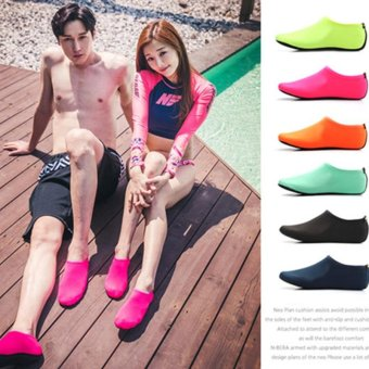 2 Pairs Unisex Diving Swimming Shoes Beach Water Sports Shoes Rose - intl - 4