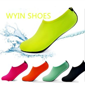 2 Pairs Unisex Diving Swimming Shoes Beach Water Sports Shoes Rose - intl - 2