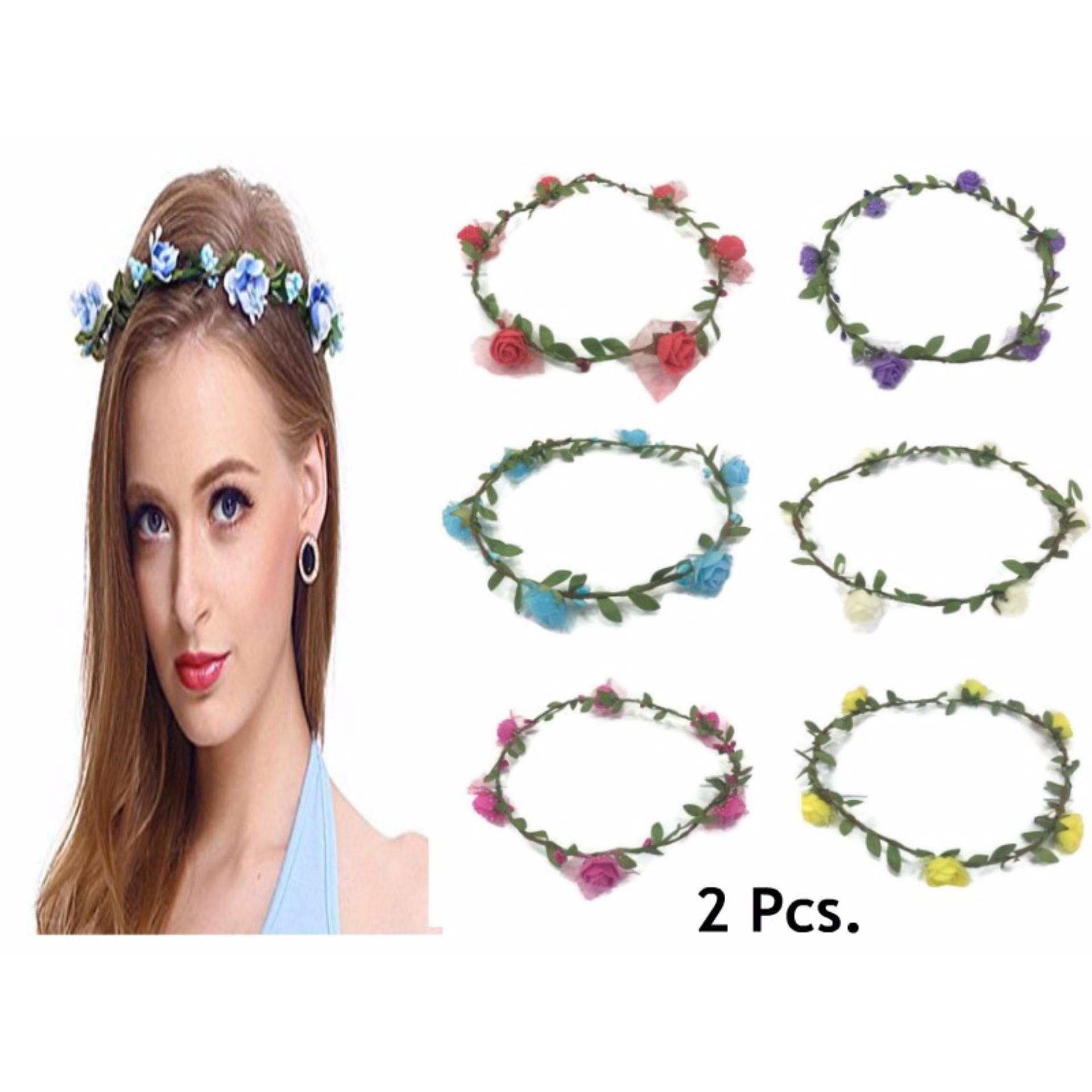 Philippines 2 pcs fairy flower crown headdress garland bridal 2 pcs fairy flower crown headdress garland bridal head accessories 16g izmirmasajfo