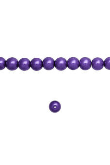 200pcs Round Glass Pearl Spacer Beads 4x4x4mm Purple