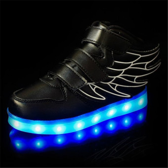 2016 Fashion LED Sneakers Sports Shoes LED Shoes For Kids Boys Girls USB Charging Flashing 7 Colors Sneakers - 2