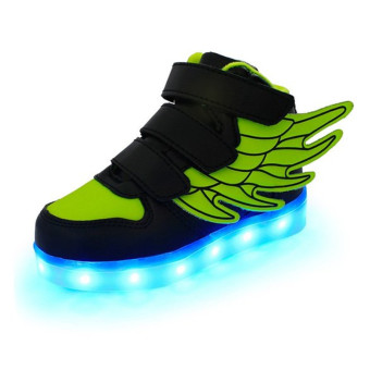 2016 Fashion LED Sneakers Sports Shoes LED Shoes For Kids Boys Girls USB Charging Flashing 7 Colors Sneakers - Intl