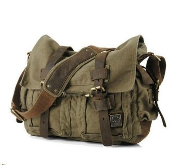 2016 Men bag Canvas and Leather Crossbody Bag Men Military ArmyVintage Messenger Bags Sports Shoulder Bag Casual Travel Bags I AMLEGEND - Intl Price Philippines