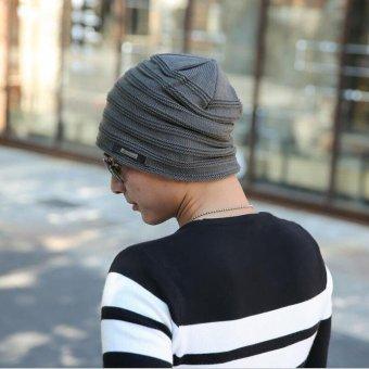 2017 Fashion Bonnet Gorros Caps For Men Women Thick Winter BeanieMen Knitted Hat Warm Skullies & Beanies 2017 new free sipping -intl - 2