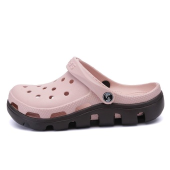 2017 Fashion Outdoor Beach Footwear Man Summer Casual Water ShoesHommes Sandales Hollow Jelly Croc Women Mule Clogs Massage SlipperFor Couples Plus Size 45 46 47 - intl - 2