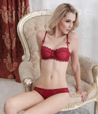 68b4299a0c9 ... Cup Plus Size Bras Set Embroidery Lace Lingerie Bra and Panties Set(Black)  - intlPHP785. PHP 794