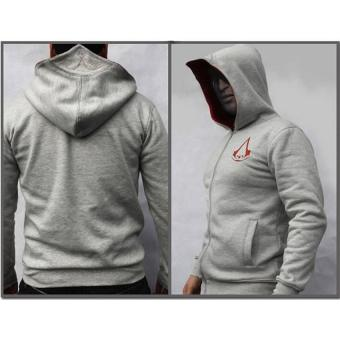 2017 Men's Spring New Fashion Autumn Winter Assassins Creed HoodieSweat Cosplay Costumes Cool Zipper Hoodies S(gray) - intl
