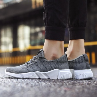 2017 New Fashion Outdoor Sport Shoes for Man Lower Cut Fly Weave Breathable Leisure Shoes (grey) - intl - 4